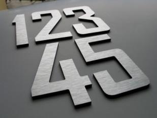 Z cyfr blokowych ze stali nierdzewnej