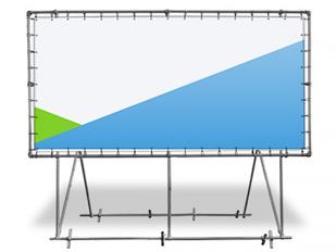 konstrukcja baner wolnostojąca