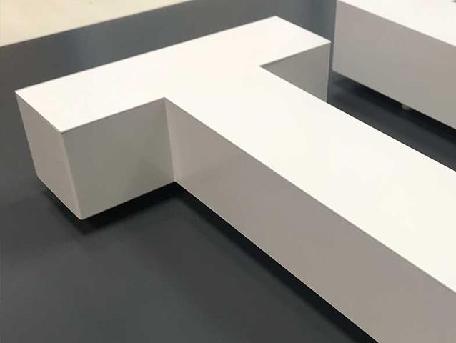 Litery 3D Bez podświetlania